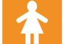 Simbolo donna arancio
